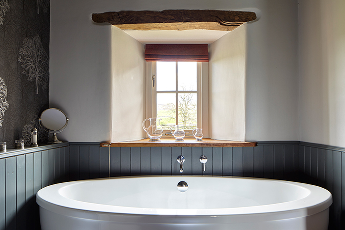 Refined result of rural renovation at Angel Barn, A Corner of Eden, Cumbria