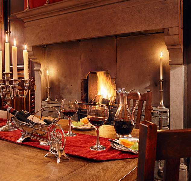 Candlelit dinner at The Farmhouse, A Corner of Eden, Cumbria