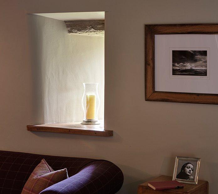 Window dressing at Angel Barn, A Corner of Eden, Cumbria