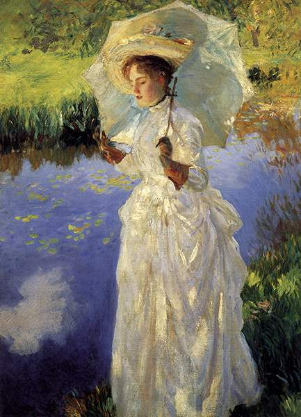 'A Morning Walk' portrait by John Singer Sergent