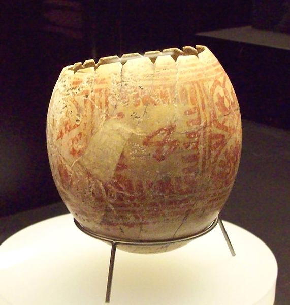 Punic ostrich egg decorated. Image courtesy of Luis Garcia via Creative Commons.